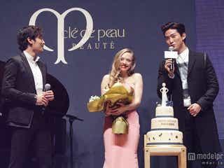 アマンダ・サイフリッド、韓国でサプライズパーティー 2PMメンバーも駆けつける