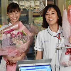 「白衣の戦士!」W主演を務めた中条あやみ&水川あさみ(C)モデルプレス