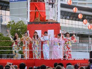 峯岸みなみらAKB48メンバー華やか浴衣姿でサプライズに6000人が熱狂