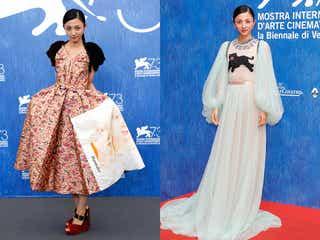 満島ひかり、華やかドレスで世界を魅了 拍手喝采が沸き起こる