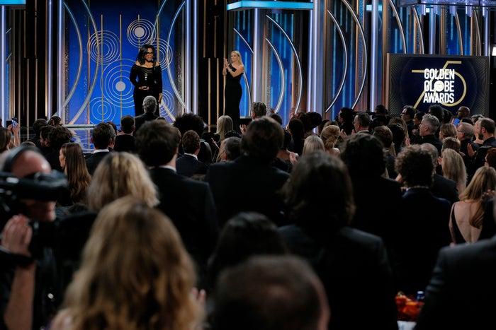 オプラ・ウィンフリーのスピーチの様子/photo:Getty Images