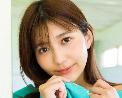 「ミスマガジン2020」新井遥、ふんわりバストが美しい さらなる力が宿った瞳に注目