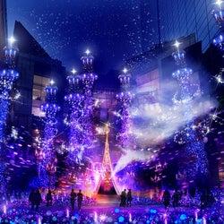 ディズニー映画『アラジン』イルミネーション、カレッタ汐留で開催 楽曲使用のショーも