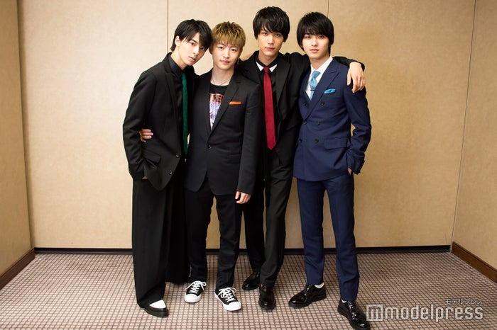 (左から)高杉真宙、佐野玲於、中川大志、横浜流星(C)モデルプレス