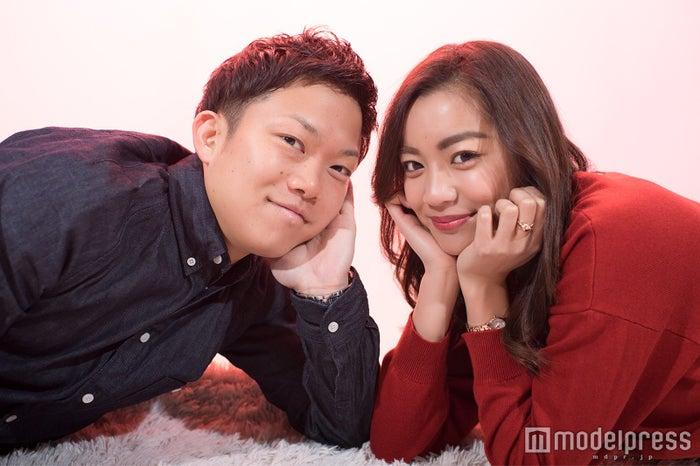 モデルプレスのインタビューに応じた裕ちゃん&アスカ (C)モデルプレス