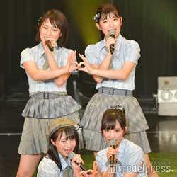 (左上から時計回りに)山田菜々美、吉田華恋、小栗有以、坂口渚沙/AKB48チーム8「TOKYO IDOL FESTIVAL 2018」 (C)モデルプレス