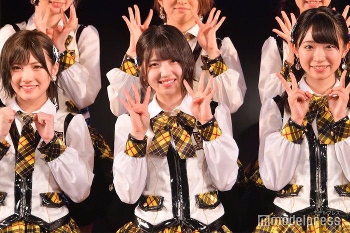 岡田奈々、村山彩希、山内瑞葵/AKB48村山チーム4「手をつなぎながら」公演(C)モデルプレス