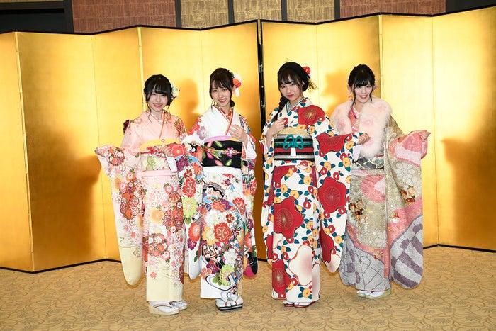 SKE48(左から)佐藤佳穂、熊崎晴香、日高優月、岡田美紅 (C)モデルプレス(C)AKS