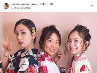 「テラハ」ハワイ編美女たちの浴衣姿が美しい ローレン・サイ&エビアン・クー&フランク奈緒美ロレインが集結