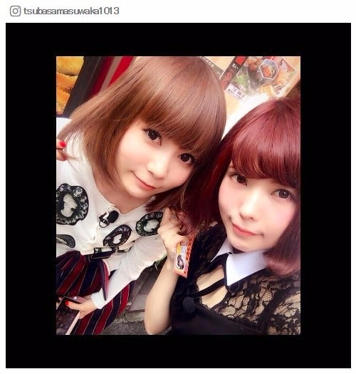 益若つばさ&中川翔子、ボブヘア2ショットに反響「似てる」「双子みたい」/益若つばさInstagramより
