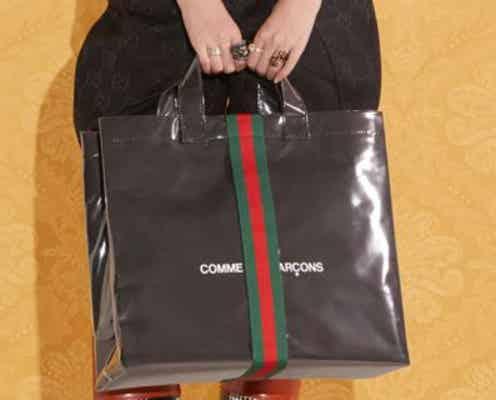 2ブランドの美学が融合!「グッチ」と「コム デ ギャルソン」のコラボバッグ第3弾が発売。