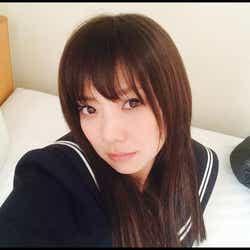 セーラー服姿を披露した倉科カナ/オフィシャルブログ(Ameba)より【モデルプレス】