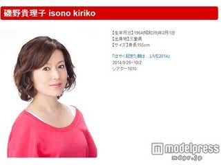磯野貴理子、脳梗塞で緊急入院 所属事務所コメント発表