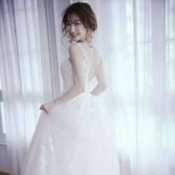 柏木由紀、美しいウエディングドレス姿に 20代最後の大人っぽい花嫁姿に大満足