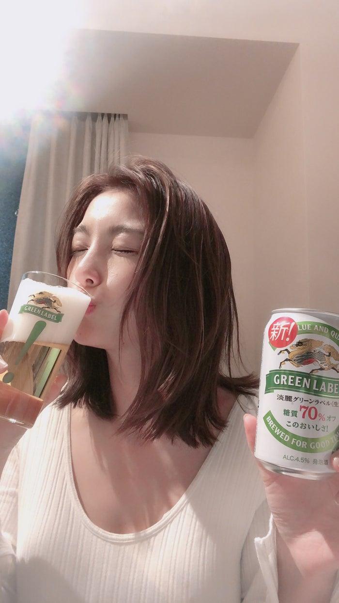 木下優樹菜「満足感ある味わい」 グリーンラベル3年ぶりのリニューアルに驚き(提供写真)