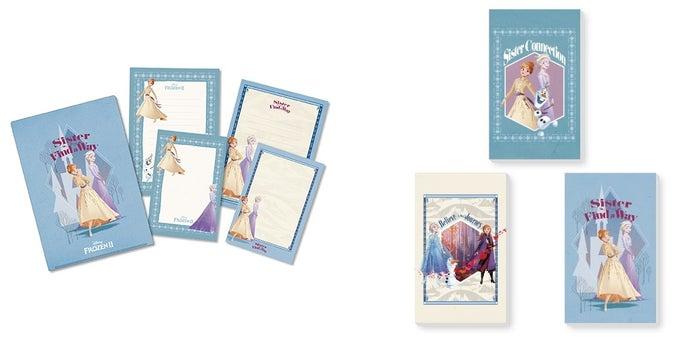 ケース付きレターセット 800円、ミニメモ3個セット 800円(C)Disney