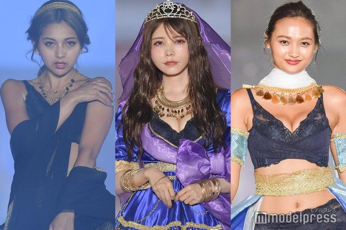 (左から)ゆきぽよ(木村有希)、益若つばさ、香川沙耶 (C)モデルプレス