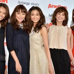 押切もえ、蛯原友里ら「AneCan」モデル、華やかドレスで美の競演