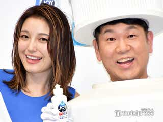 木下優樹菜、夫・藤本敏史とのCM共演に赤面「ドッキリかなって」 公開ダメ出しも