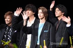 (左から)岩谷翔吾、浅香航大、横浜流星、中尾暢樹(C)モデルプレス
