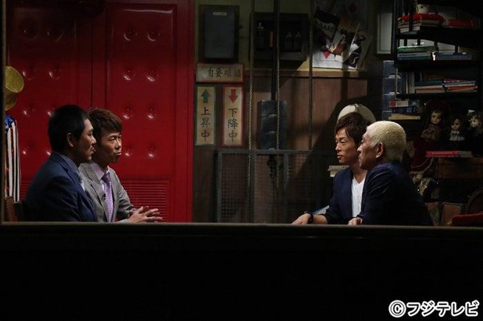(左から)藤田憲右、大村朋宏(トータルテンボス)、陣内智則、松本人志(C)フジテレビ