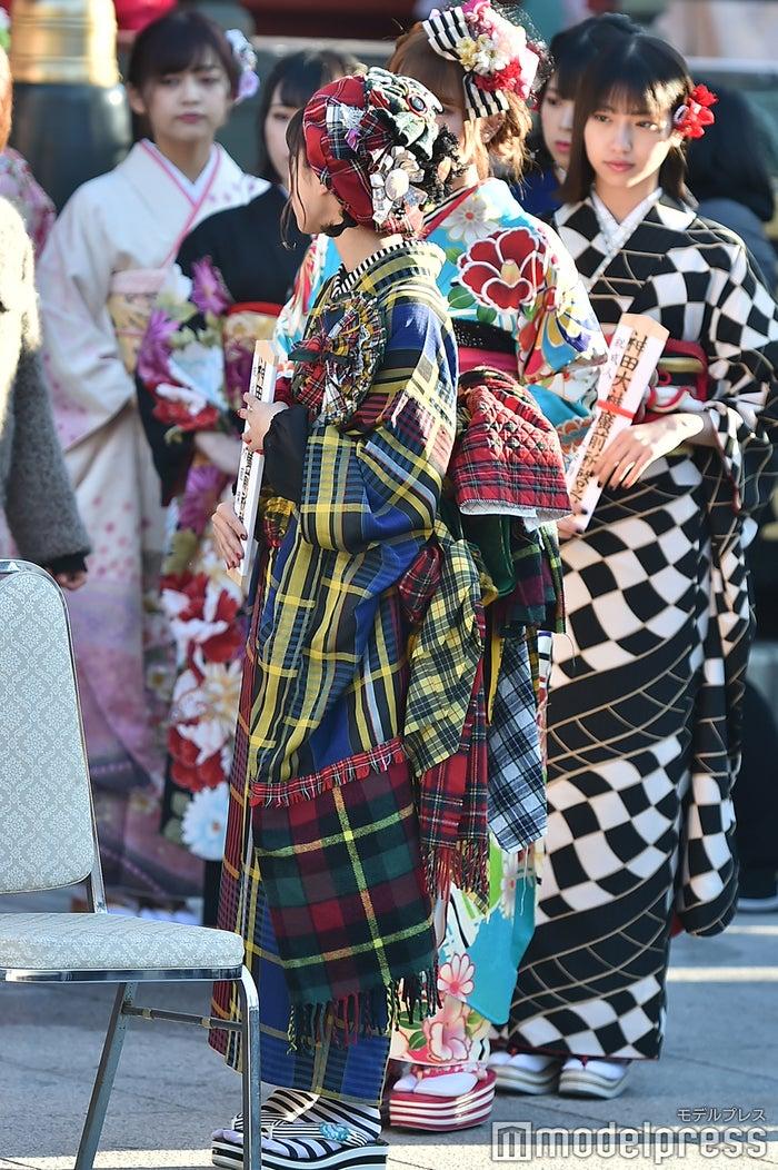 手作り振袖が話題を呼んだ外薗葉月/AKB48グループ成人式記念撮影会 (C)モデルプレス
