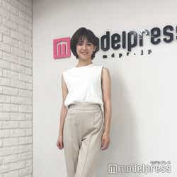 私服の宮司アナ。淡いカラーでまとめた爽やかなコーディネートがとてもお似合いでした(C)モデルプレス