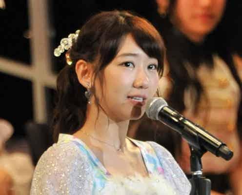 柏木由紀、悔しさこらえ笑顔でスピーチ<第5回AKB48選抜総選挙>