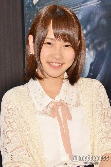 「第7回AKB48選抜総選挙」の開票速報にコメントした川栄李奈【モデルプレス】