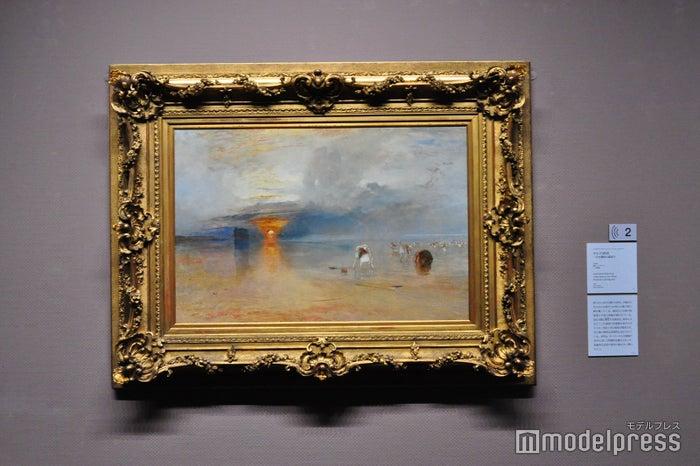 ジョゼフ・マロード・ウィリアム・ターナー《カレの砂漠 - 引き潮時の餌採り》1830年、油彩 ベリ美術館(C)モデルプレス