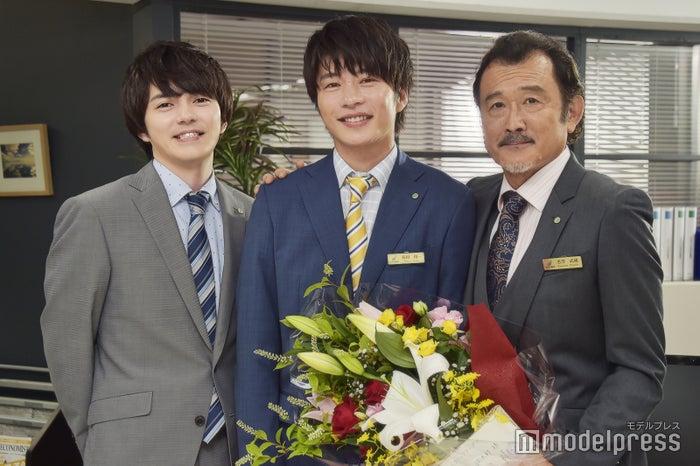 「おっさんずラブ」に出演した林遣都、田中圭、吉田鋼太郎 (C)モデルプレス