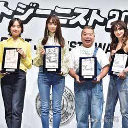 (左から)井手上漠、石橋静河、山本美月、出川哲朗、長谷川京子、楓 (C)モデルプレス
