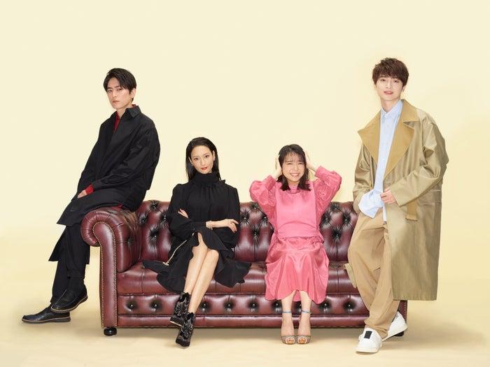 左から:間宮祥太朗、菜々緒、上白石萌音、玉森裕太(C)TBS