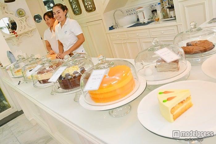 可愛いケーキがずらり