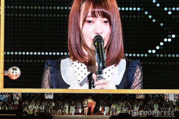 「第10回AKB48世界選抜総選挙」での宮脇咲良(C)モデルプレス