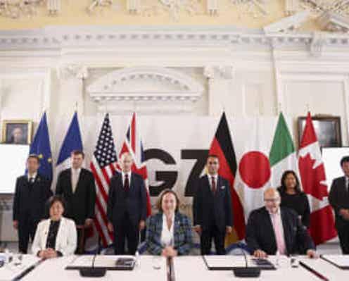 G7、強制労働の排除で一致 中国を念頭、貿易に人権意識