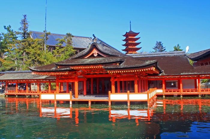 鮮やかな朱色の社殿/写真提供:広島県