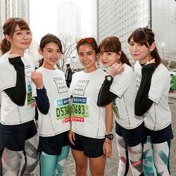 """村田倫子・アンジェラ芽衣ら""""走る美女チーム""""、フルマラソン初…"""