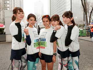 """村田倫子・アンジェラ芽衣ら""""走る美女チーム""""、フルマラソン初挑戦 TGR史上ベストタイムも"""