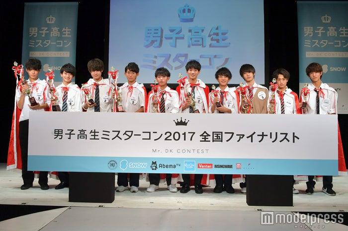 「男子高生ミスターコン2017 全国ファイナリスト」10人(C)モデルプレス