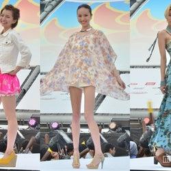 道端アンジェリカ、芹那ら美女がビーチで競演「沖縄国際映画祭」でファッションショー<写真特集>