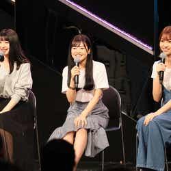 (左から)松岡菜摘、本村碧唯、山下エミリー(C)AKS