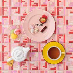 「フェンディ カフェ」バレンタイン限定メニュー新登場、いちごを使ったケーキやタルト