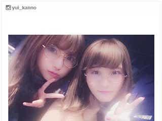菅野結以、お揃い丸メガネで「姉妹」SCANDAL・RINAとの2ショットに反響
