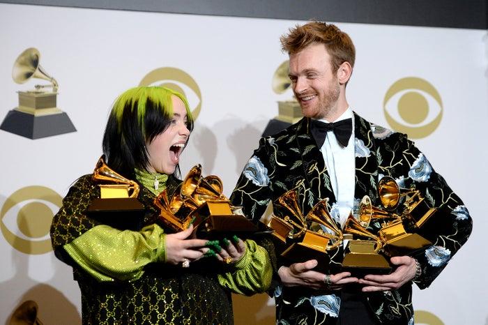 ビリー・アイリッシュ、フィニアス・フィニアス・オコネル/photo by Getty Images<br>