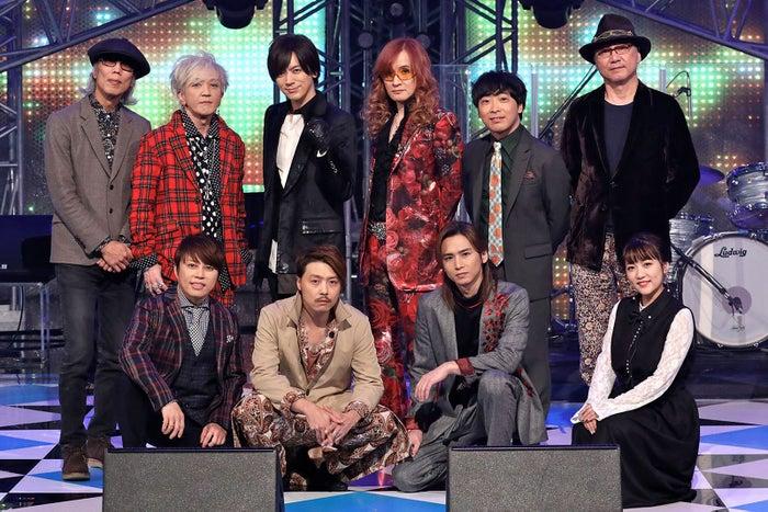 (Left left in front row) Nishikawa Takashi, Tsuyoshi Zone (KinKi Kids), Domoto Koichi (KinKi Kids), Takahashi Minami (left to left) Daisuke Asakura, Daigo, Takamizawa Toshihiko, Dojima Kohei, Yoshida Television