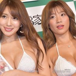 (左から)森咲智美、葉月あや(C)モデルプレス