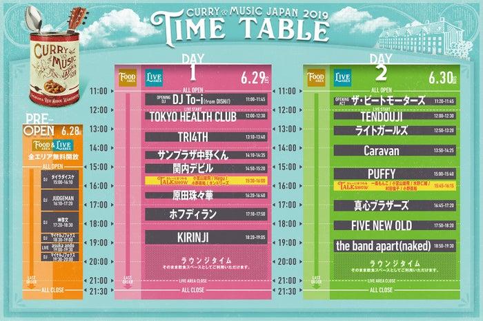 タイムテーブル/画像提供:横浜赤レンガ