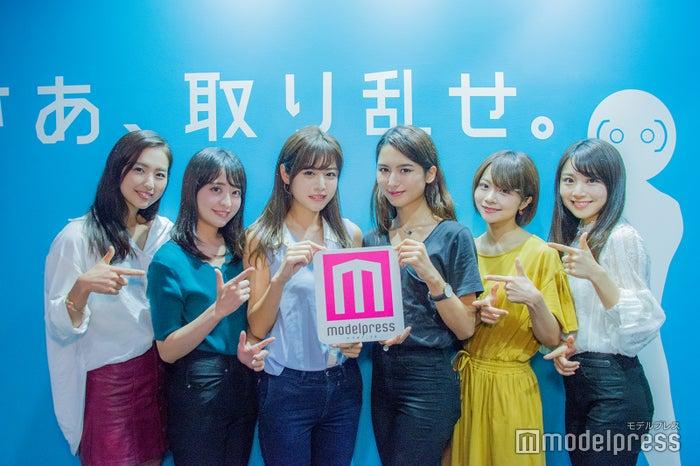 (左から)田本詩織さん、末吉瞳さん、齊藤紫帆さん、ヴァッツ美良さん、荒谷柚風さん、篭嶋佑実さん(C)モデルプレス