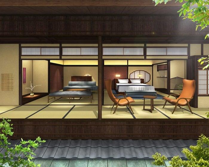 """京都・祇園に""""元料亭ホテル""""「そわか」開業へ、半露天風呂や茶室付き客室を完備/画像提供:畑中"""